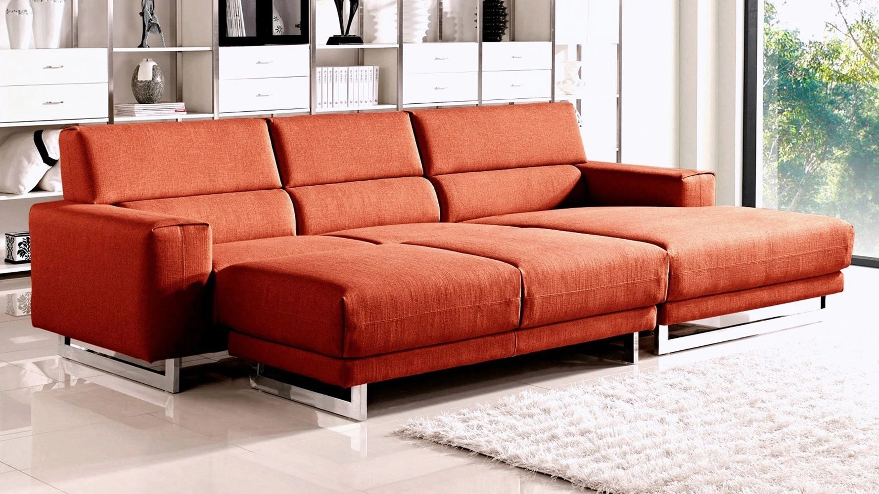 corinthian wynn sectional sofa half moon sofas leather fabric diva with sleeper ottoman zuri