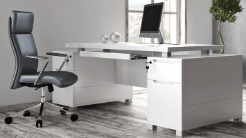 Ford White Executive Desk   Modern & Contemporary Office ...