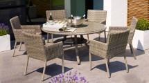 Greywash Rattan Allegra Outdoor Dining Set With Grey