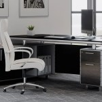 Kennedy Black Wood Executive Desk With Return Modern Contemporary Office Zuri Furniture