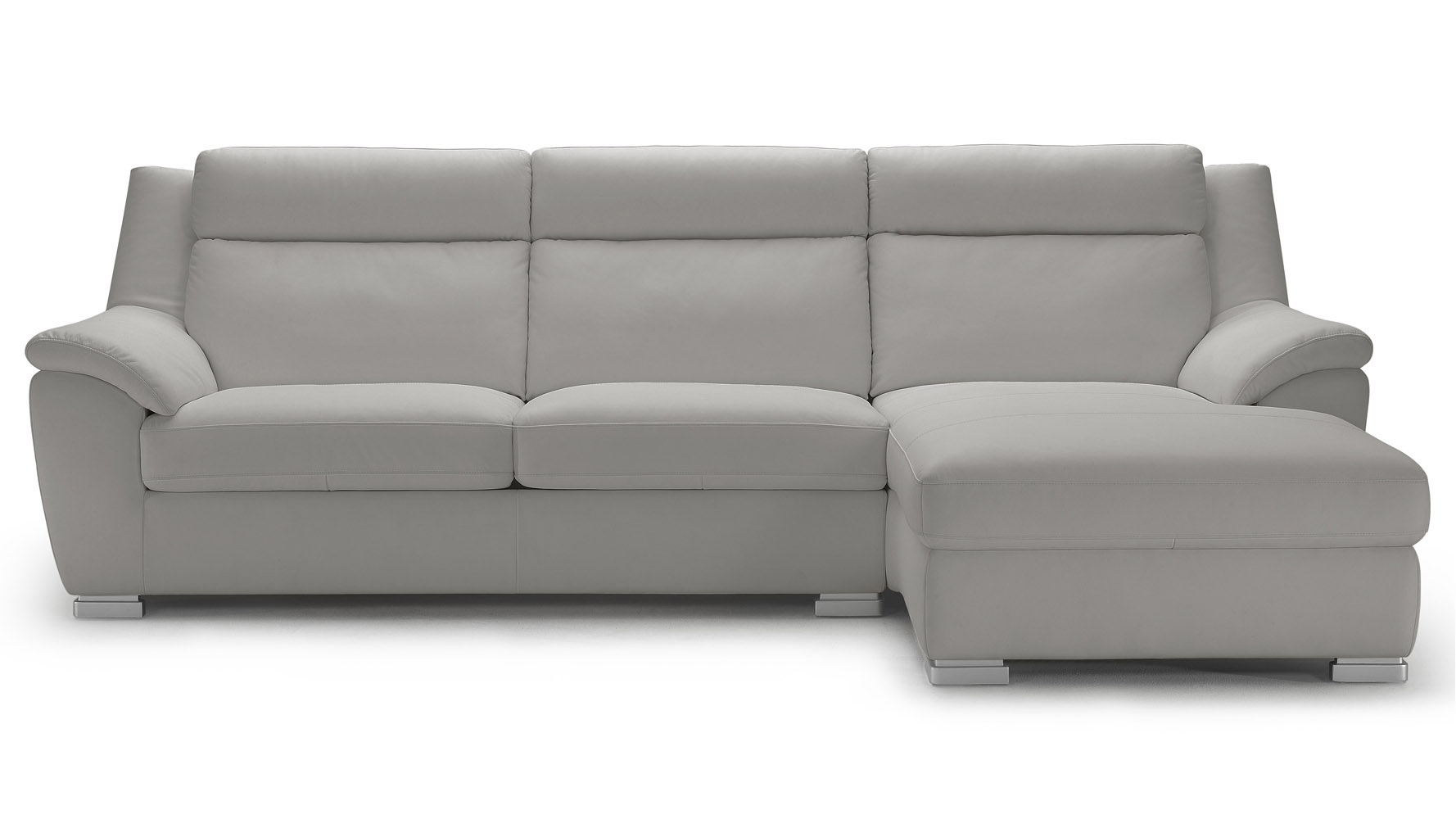 light grey leather sofa bed modern white sleeper chaise with