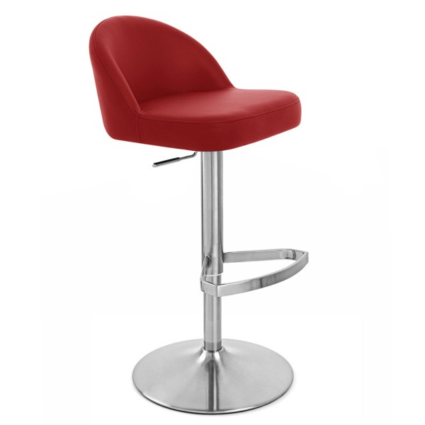 Mimi Adjustable Height Swivel Armless Bar Stool | Zuri Furniture