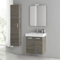 Modern 22 inch Cubical Vanity Set with Storage Cabinet ...
