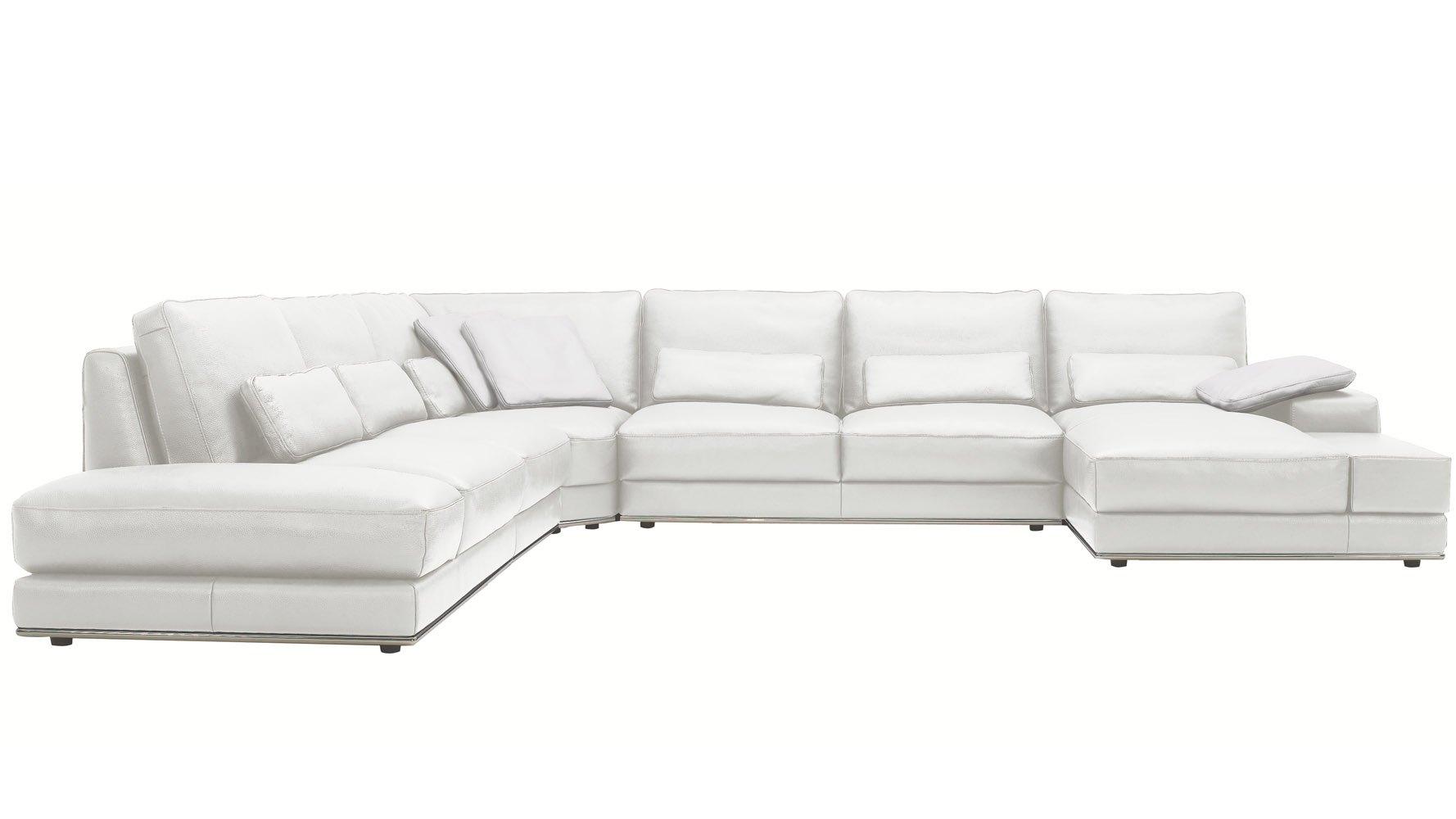 3 piece leather sectional sofa with chaise multi purpose design modern white nolan zuri