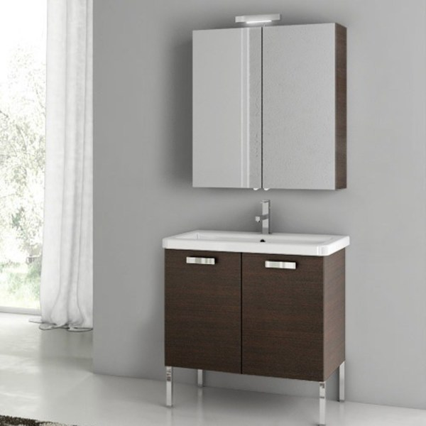 Modern 30 City Play Vanity Set With Ceramic Sink