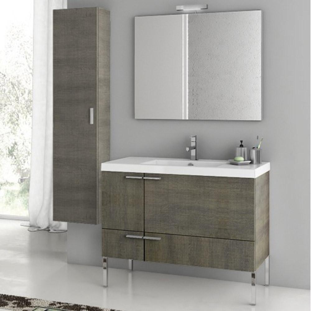 Modern 39 inch Bathroom Vanity Set with Storage Cabinet