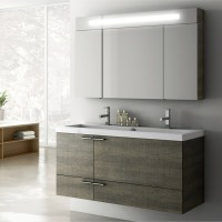 Modern 47 inch Bathroom Vanity Set with Medicine Cabinet ...