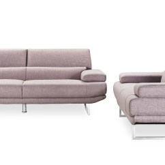 Print Sofa Set Armen Barrister Review Modern Taupe Fabric Upholstered 2 Piece With