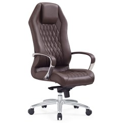 Modern Grey Leather Office Chair Nat's Fishing Ergonomic Sterling Executive With Aluminum Base Dark Brown