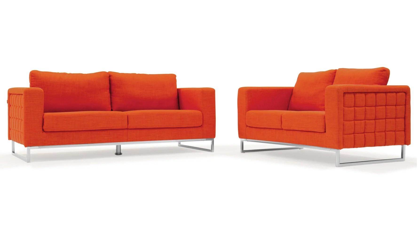 aria fabric modern sectional sofa set single armless chair 2 piece energywarden