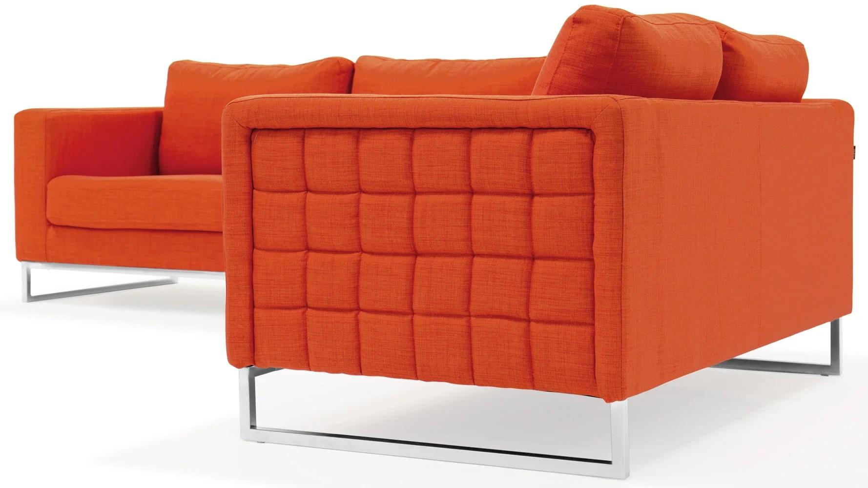 steel sofa set online chennai home decorators collection gordon modern orange fabric upholstered 2 piece with