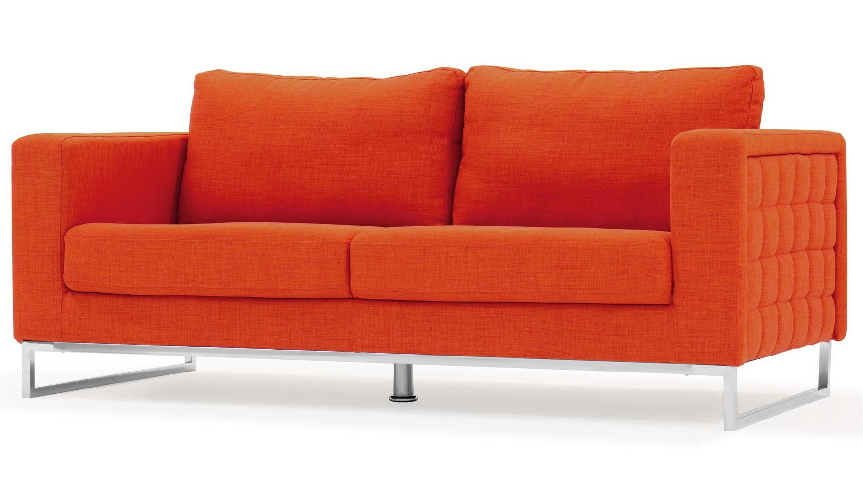 steel sofa set online chennai white leather mid century modern orange fabric upholstered 2 piece with