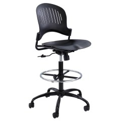 Modern Drafting Chair Seat Pads Zippi Plastic Extended Height Black Zuri Furniture Free Shipping