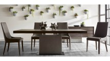 Altadis Rectangle Dining Table Espresso And Slate