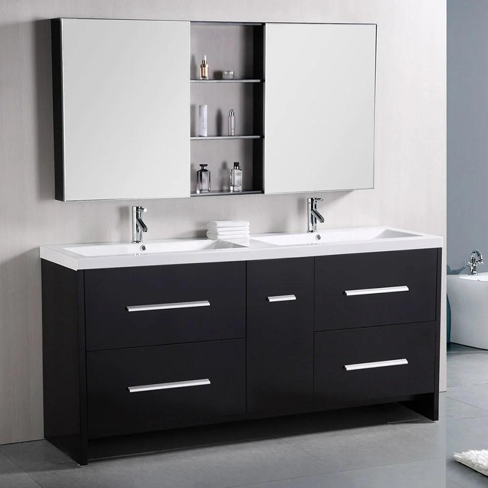 Donovan 72 Double Sink Vanity Set  Zuri Furniture
