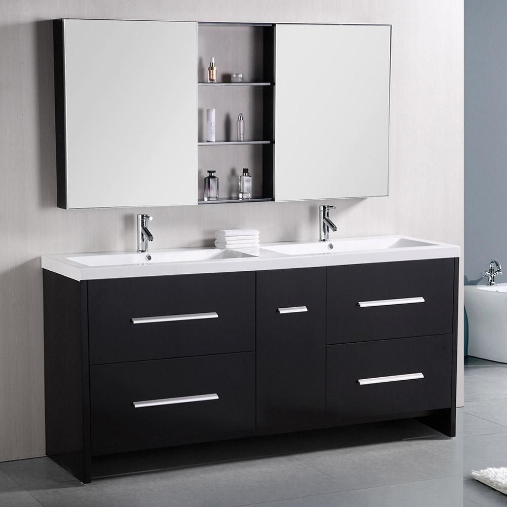 "Donovan 72"" Double Sink Vanity Set | Zuri Furniture"