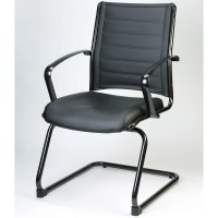 Modern Europa Metallic Leather Side Chair Black Leather ...