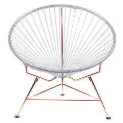 Innit Acapulco Chair Cheap Acrylic Chairs Modern With Cord Seat And Copper Frame Zuri Furniture Next