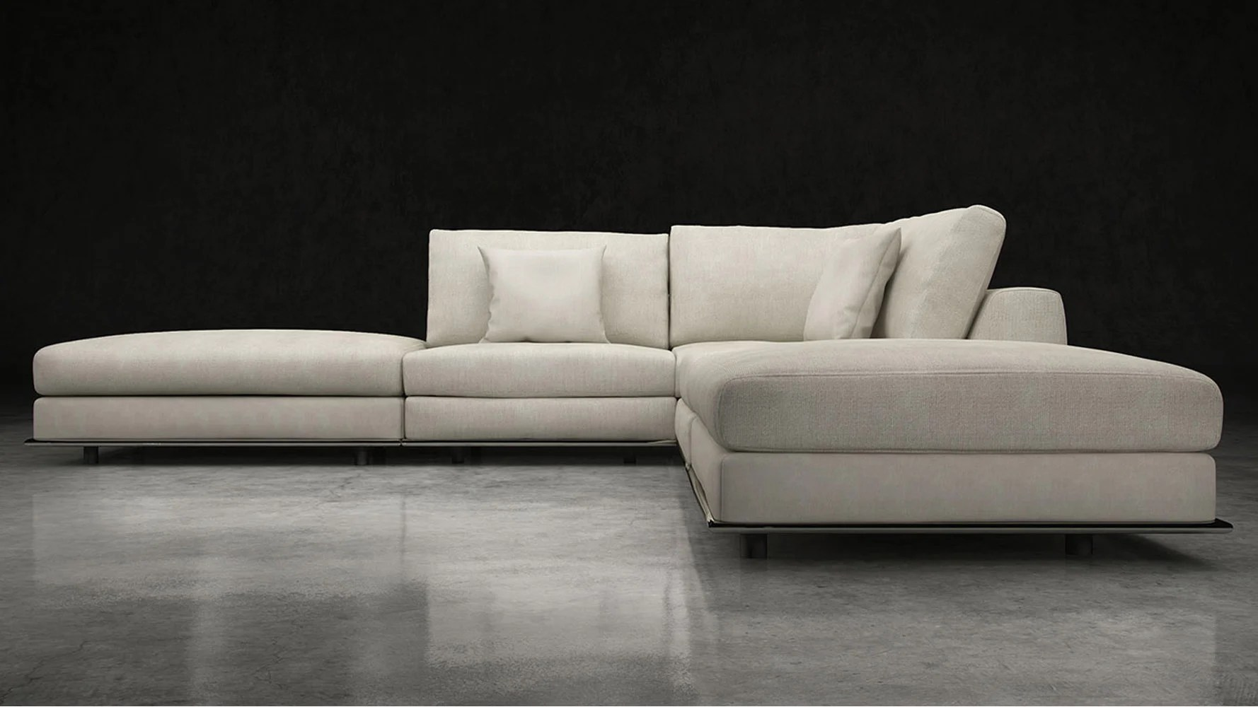 wide sofa sectionals air bed price in bd modern persis armless corner sectional - moonbeam ...