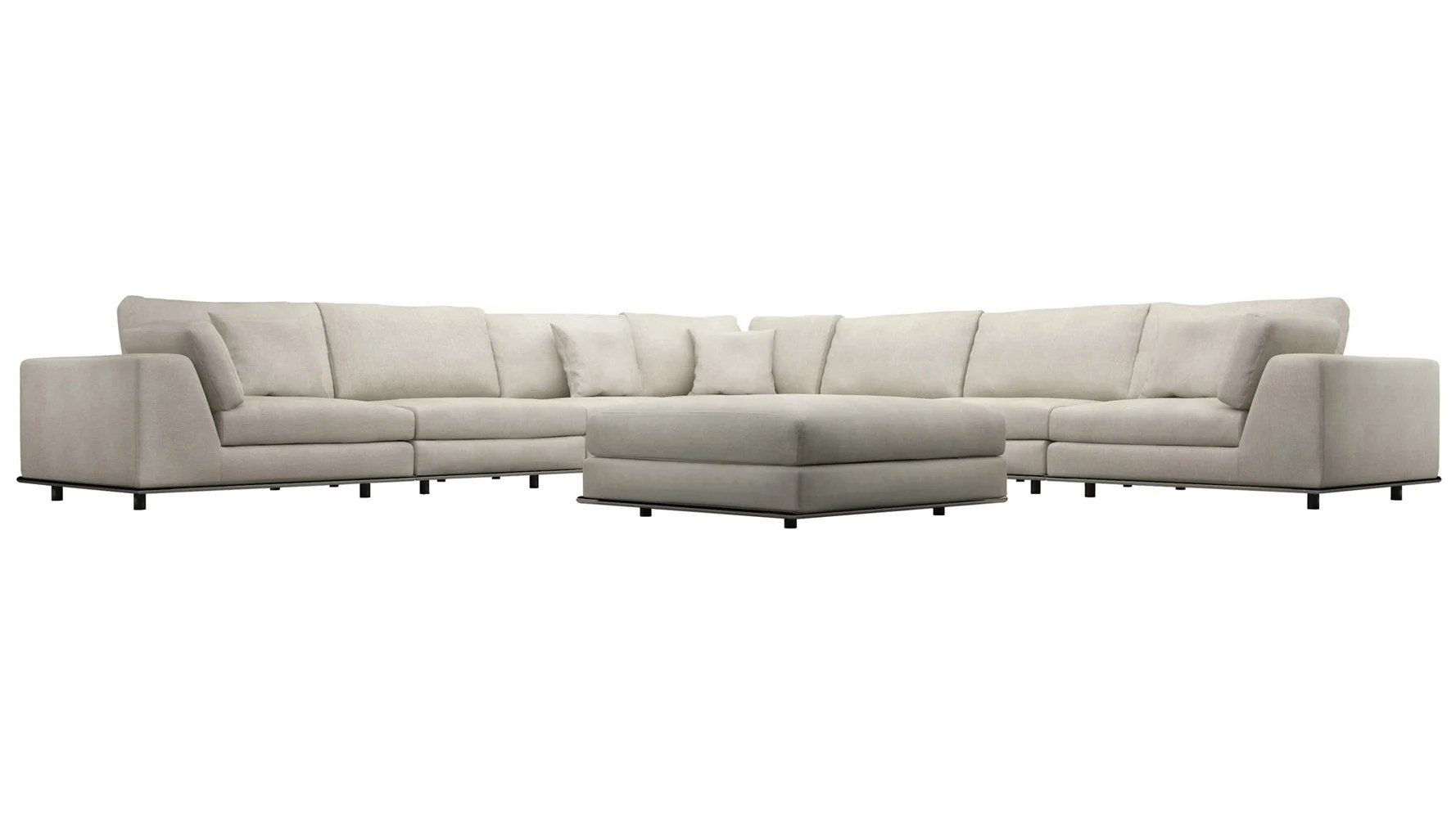 large sectional sofa with ottoman genuine leather sale modern persis corner