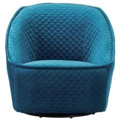Quilted Swivel Chair Birthday Cover Party City Modern Philip Aquamarine Velvet Zuri Furniture