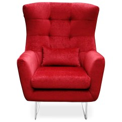 Red Lounge Chair Christmas Covers Ebay Modern Fabric Tufted Sonia Zuri Furniture
