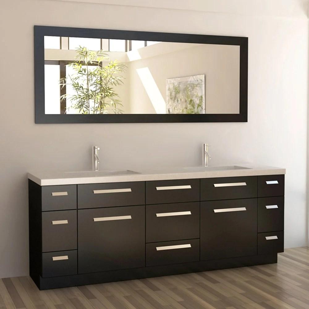 Rissa 84 Double Sink Vanity Set  Zuri Furniture