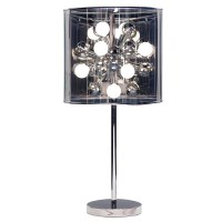 Modern Starburst Table Lamp - Chrome | Zuri Furniture