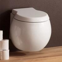 Modern Wall Mounted White Ceramic Planet Toilet | Zuri ...