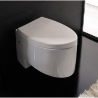 Modern Wall Mounted White Ceramic Zefiro Toilet | Zuri ...