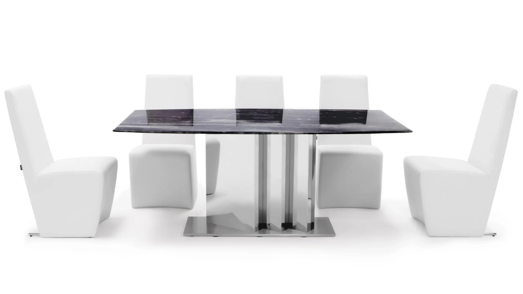 white 6 chair dining table modern barrel nero black marble set with chairs zuri furniture