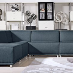 Abbie Sofa Navy Leather Fabric Sofas Chesterfield With Chrome Legs Home The Honoroak