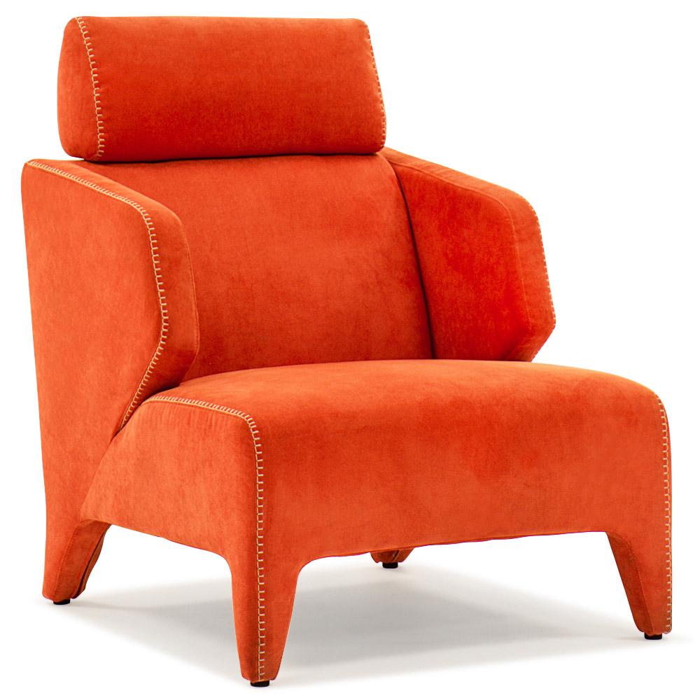 Python Orange Lounge Chair  Zuri Furniture