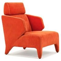 Python Orange Lounge Chair   Zuri Furniture