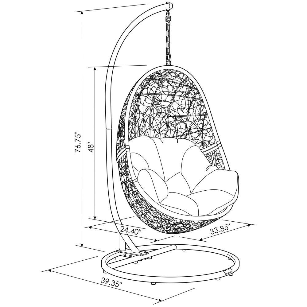 swing chair drawing outdoor butterfly reef teal zuri furniture