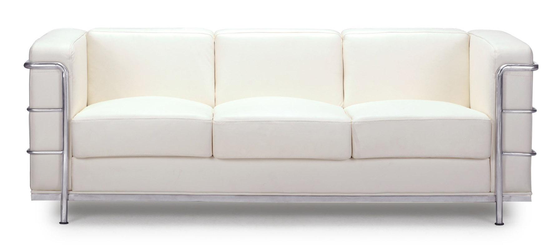 steel frame sofa cheep renny modern leather with chromed white zuri free shipping