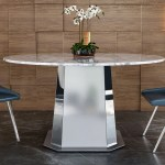 Riesling 54 Round Marble Dining Table