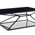 Wedge Matte Black Steel Coffee Table Zuri Furniture