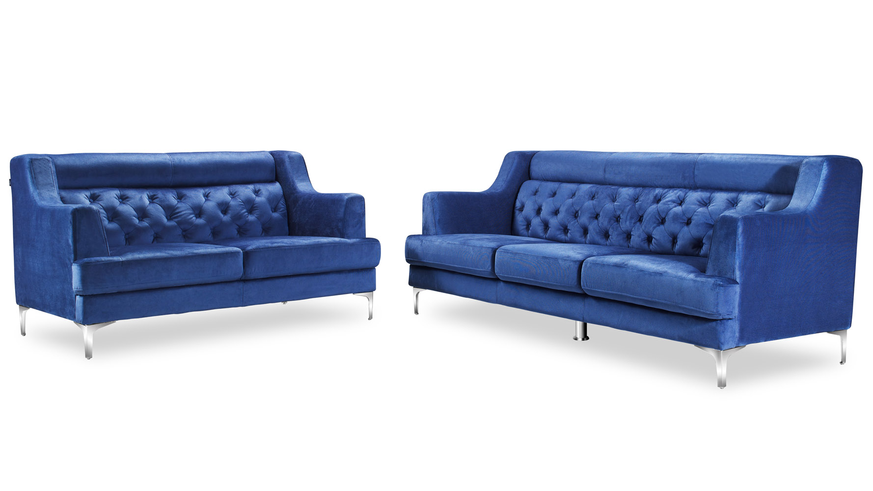 print sofa set mainstays sleeper with memory foam mattress zara fabric tufted chrome legs navy blue