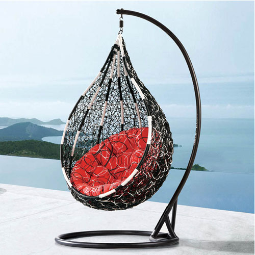 egg shaped swing chair homestore and more dining covers comfortable egg-shaped rattan outdoor euro chair- bp719-bw | zuri furniture