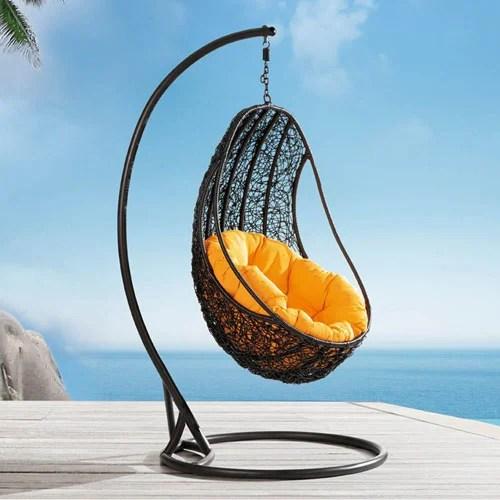 Comfortable Eggshaped Rattan Outdoor Euro Swing Chair