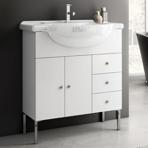 Modern 32 inch London Vanity Set with Ceramic Sink