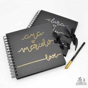 Libro de firmas boda color negro