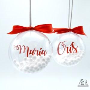 Bolas de nieve personalizadas decorativas