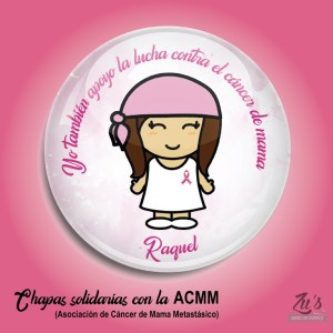 Chapas en beneficio de la ACMM (alfiler o abrebotellas)