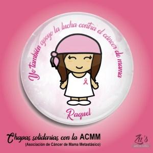 Chapas en beneficio de la ACMM (alfiler o abrebotellas)