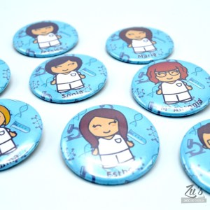 Chapas personalizadas (alfiler o imán)