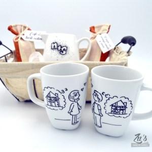 Set de desayuno personalizado para parejas