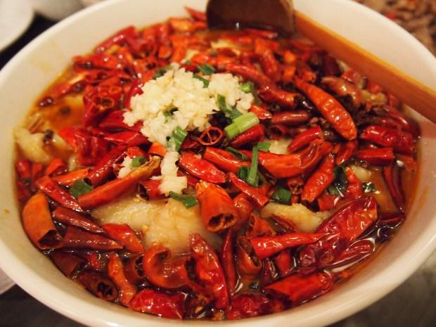 Chilli pepper fish soup