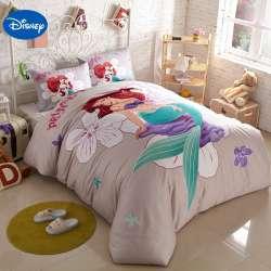 dessin anime de disney petite sirene imprime ensembles de literie pour enfants filles chambre decor coton couette lit housses de couette reine roi sz